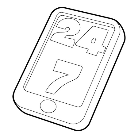 Support icon. Outline illustration of support vector icon for web