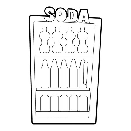 icebox: Refrigeration icon. Outline illustration of refrigeration vector icon for web Illustration