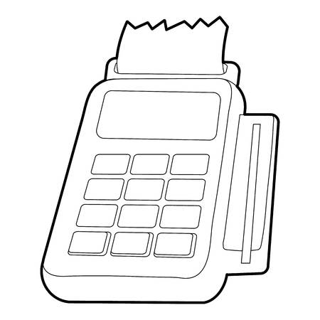 Card reader icon. Outline illustration of card reader vector icon for web