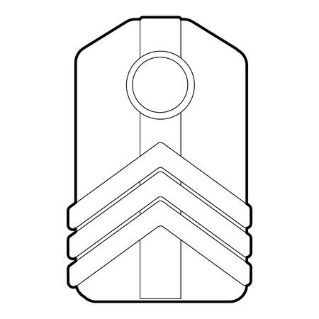 distinguishing: Shoulder straps icon. Outline illustration of shoulder straps vector icon for web