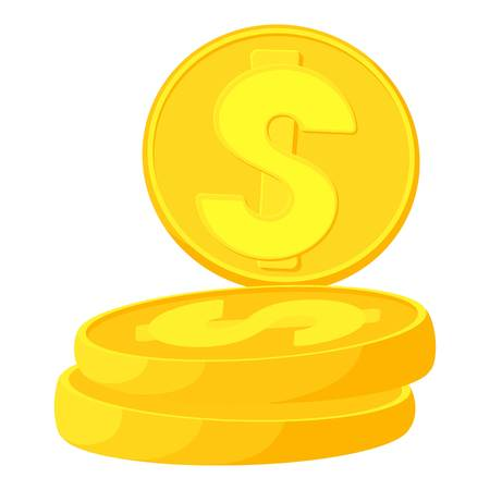 penny: Coins icon. Cartoon illustration of coins vector icon for web