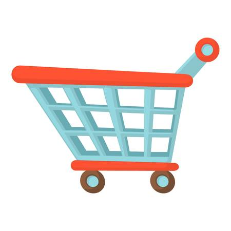 Shopping cart icon. Cartoon illustration of shopping cart vector icon for web