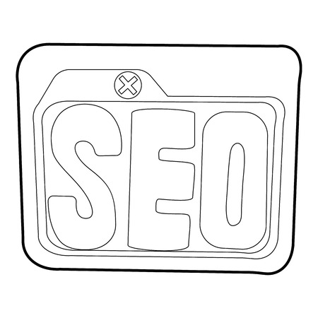 page rank: Seo icon. Outline illustration of seo vector icon for web Illustration