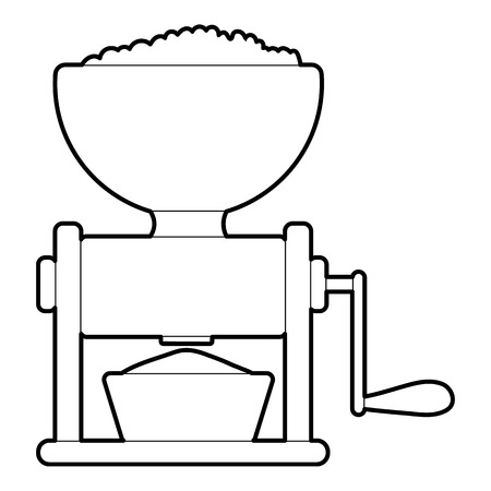 meat grinder: Meat grinder icon. Outline illustration of meat grinder, vector icon for web
