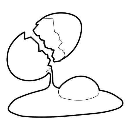 Egg icon. Outline illustration of egg vector icon for web Illustration