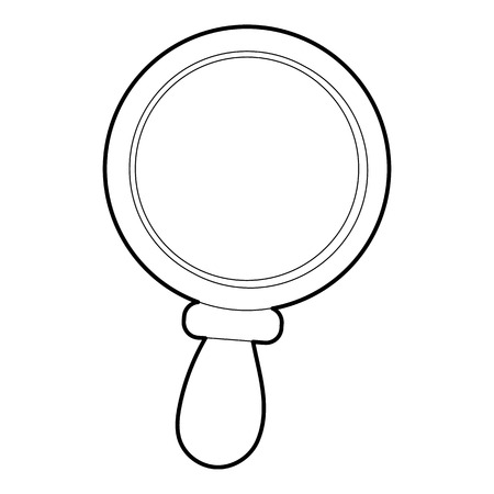inquire: Magnifier icon. Outline illustration of magnifier vector icon for web