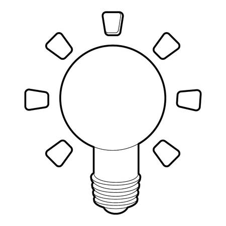 lamp outline: Lamp icon. Outline illustration of lamp vector icon for web Illustration