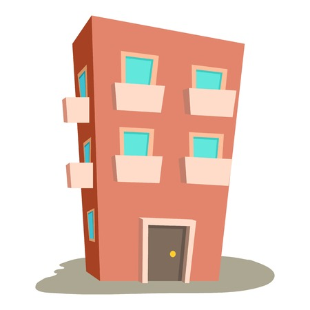 porch: Dwelling house icon. Cartoon illustration of dwelling house vector icon for web