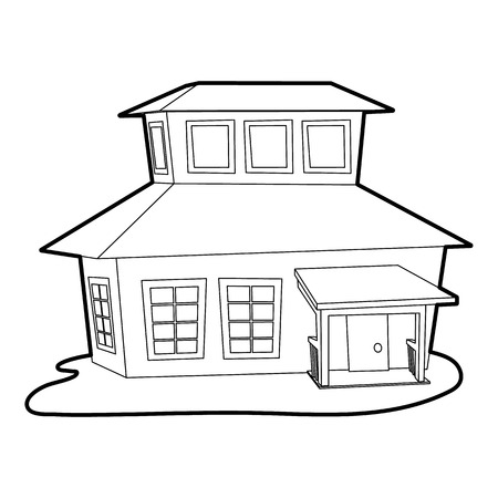 big house: Big house icon. Outline illustration of big house vector icon for web