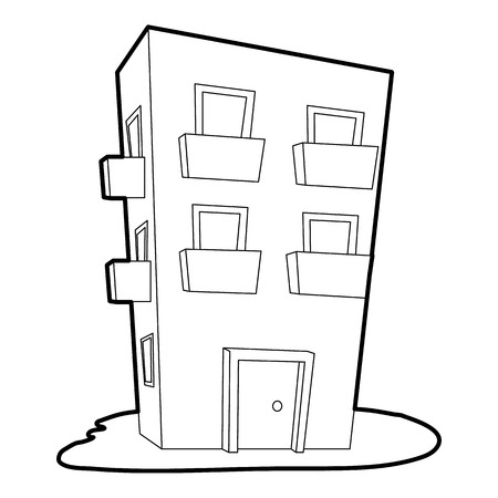 dwelling: Dwelling house icon. Outline illustration of dwelling house vector icon for web Illustration