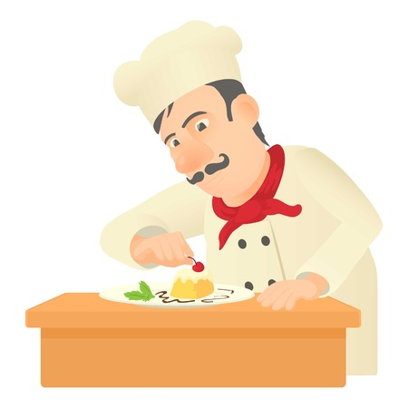 pastry chef: Pastry chef icon. Cartoon illustration of pastry chef vector icon for web