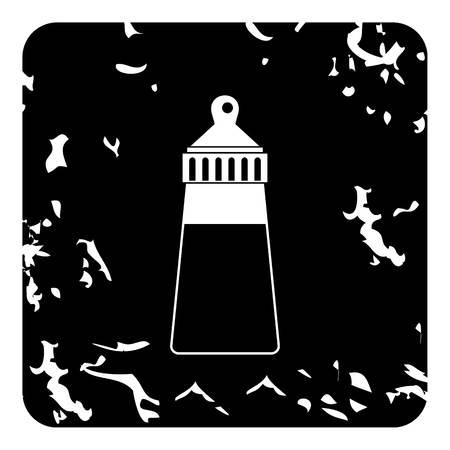 nursing bottle: Bottle with nipple icon. Grunge illustration of bottle with nipple vector icon for web