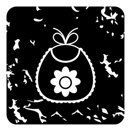 babero: Bib icon. Grunge illustration of bib vector icon for web Vectores