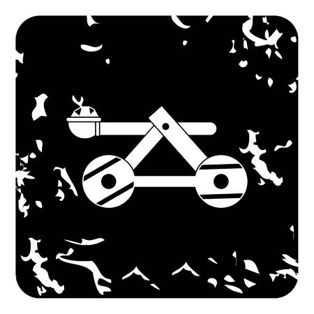 bombard: Medieval catapult icon. Grunge illustration of medieval catapult vector icon for web Illustration