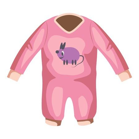 romper: Romper for baby icon. Cartoon illustration of romper for baby vector icon for web Illustration