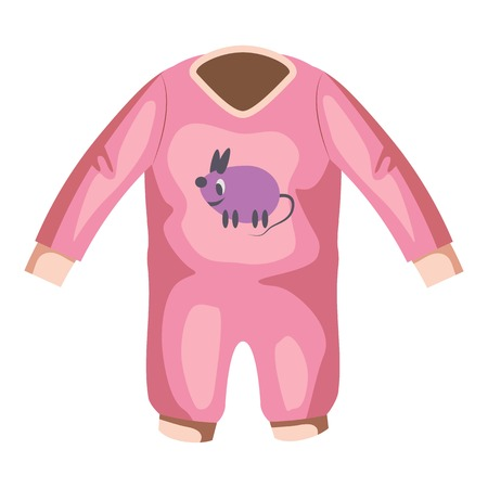 Romper for baby icon. Cartoon illustration of romper for baby vector icon for web Illustration