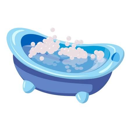 bathtime: Bath for baby icon. Cartoon illustration of bath for baby vector icon for web Illustration