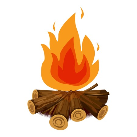 Fire icon. Cartoon illustration of fire vector icon for web