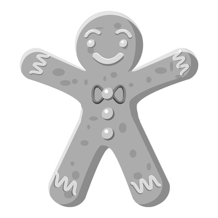 Christmas cookie icon. Gray monochrome illustration of christmas cookie vector icon for web