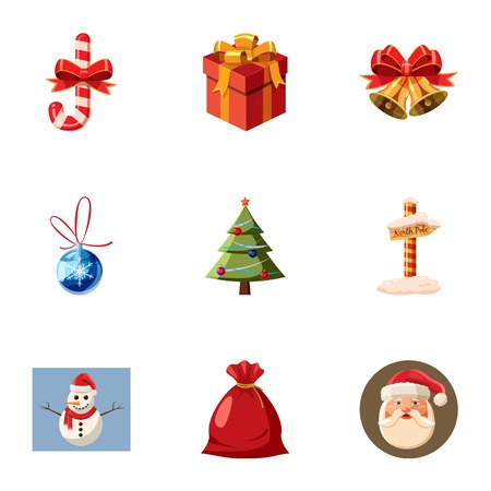 Holiday icons set. Cartoon illustration of 9 holiday vector icons for web
