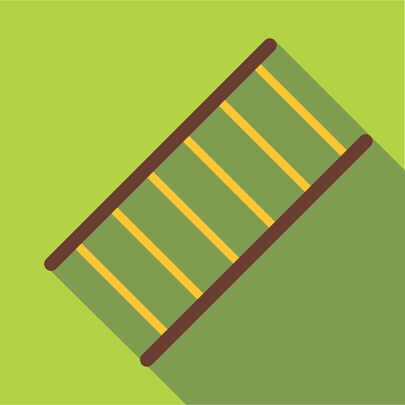 emergency stair: Fire ladder icon. Flat illustration of fire ladder vector icon for web
