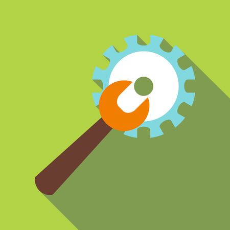 adjustable: Adjustable wrench icon. Flat illustration of adjustable wrench vector icon for web