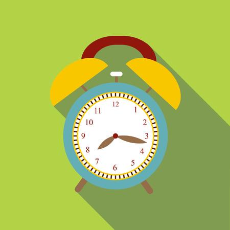 icono del reloj de alarma. Ilustración plana de despertador icono vectorial para la web Ilustración de vector