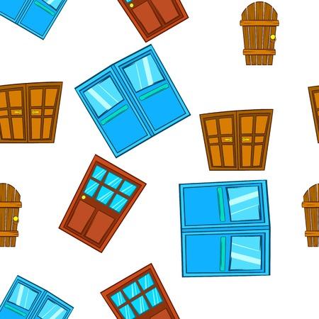double entry: Barrier door pattern. Cartoon illustration of barrier door vector pattern for web Illustration