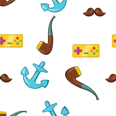 smoking pipe: Subculture youth pattern. Cartoon illustration of subculture youth vector pattern for web