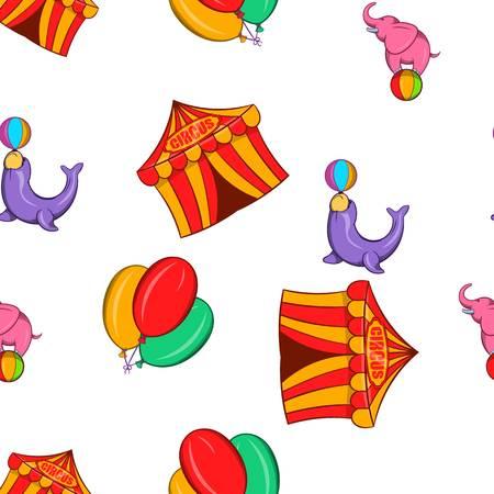 abracadabra: Chapiteau pattern. Cartoon illustration of chapiteau vector pattern for web