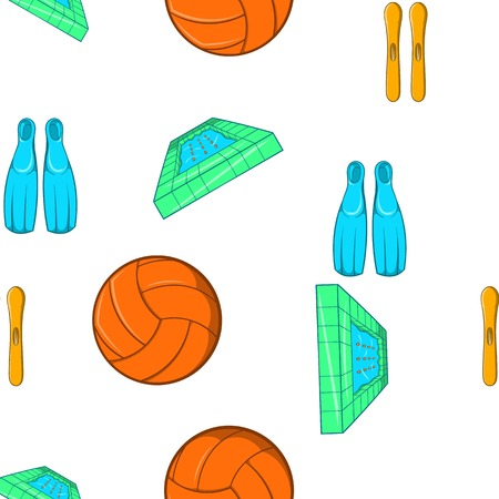 water polo: Water sport pattern. Cartoon illustration of water sport vector pattern for web Illustration