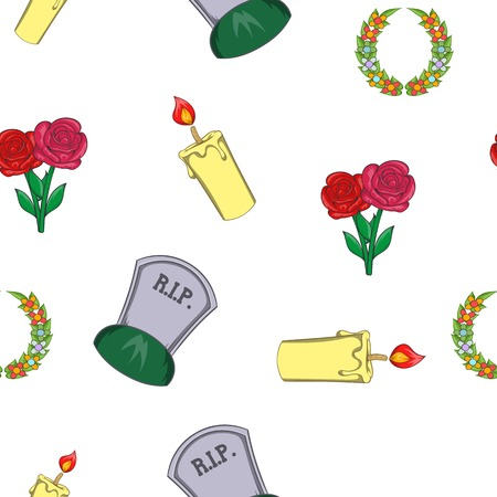 Burial pattern. Cartoon illustration of burial vector pattern for web Illustration