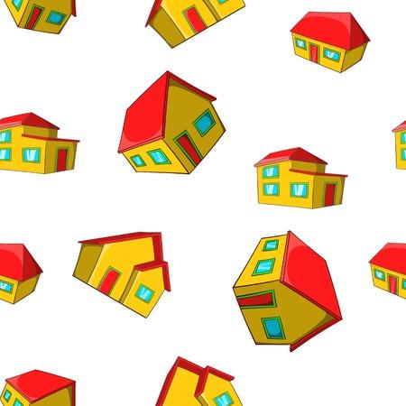 dwelling: Dwelling pattern. Cartoon illustration of dwelling vector pattern for web Illustration