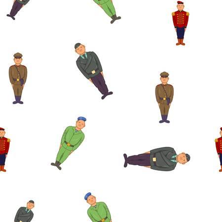 Military pattern. Cartoon illustration of military vector pattern for web Illustration