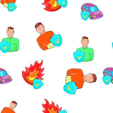 Emergency pattern. Cartoon illustration of emergency vector pattern for web