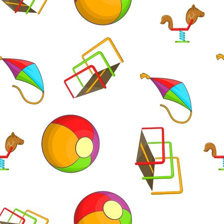 kiddies: Attractions for children pattern. Cartoon illustration of attractions for children vector pattern for web