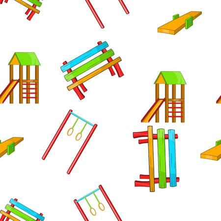 kiddies: Children rides pattern. Cartoon illustration of children rides vector pattern for web