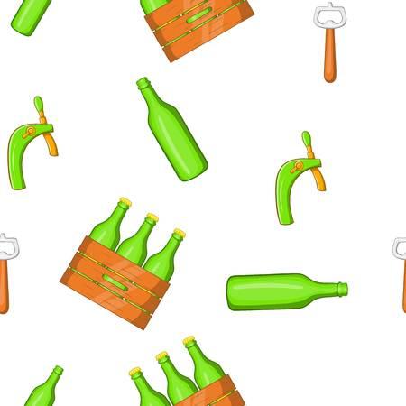 Folk festival of beer pattern. Cartoon illustration of folk festival of beer vector pattern for web