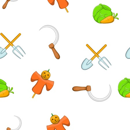 Animal farm pattern. Cartoon illustration of animal farm vector pattern for web Illustration