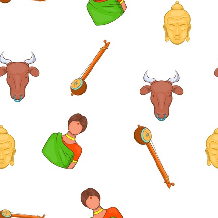 Country of India pattern. Cartoon illustration of country of India vector pattern for web Illustration
