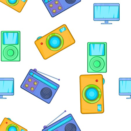 electronic gadget: Electronic gadget pattern. Cartoon illustration of electronic gadget vector pattern for web Illustration