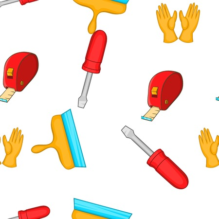 putty knives: Tools pattern. Cartoon illustration of tools vector pattern for web