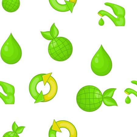 taps: Environment pattern. Cartoon illustration of environment vector pattern for web
