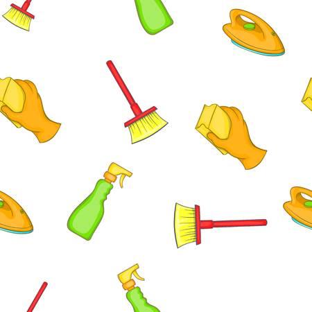 besom: Sanitation pattern. Cartoon illustration of sanitation vector pattern for web Illustration
