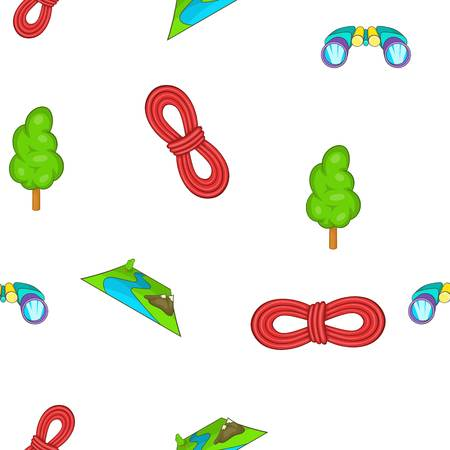 Camp pattern. Cartoon illustration of camp vector pattern for web