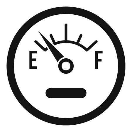 Fuel sensor icon. Simple illustration of fuel sensor vector icon for web Illustration