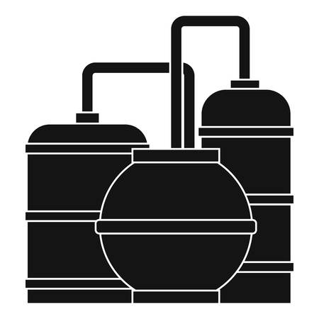 distillation: Gas storage tanks icon. Simple illustration of gas storage tanks vector icon for web
