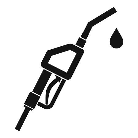 Gasoline pump nozzle icon. Simple illustration of gasoline pump nozzle vector icon for web
