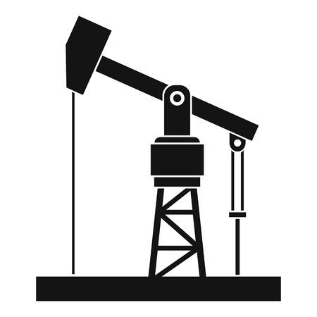 Icône de pompe à huile. Illustration simple d'icône de vecteur de pompe à huile pour le web