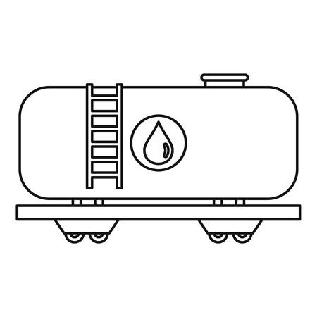Eisenbahn Kraftstofftank Icon. Umriss Darstellung der Eisenbahn Kraftstofftank Vektor-Symbol für Webicon. Umriss Illustration der Vektor-Symbol für Web Standard-Bild - 66888458